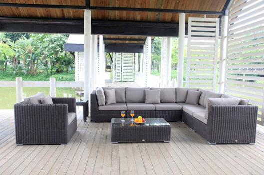 Rattan lounge schwarz grau  Rattan Lounge Schwarz oder Braun - Rattanmöbel