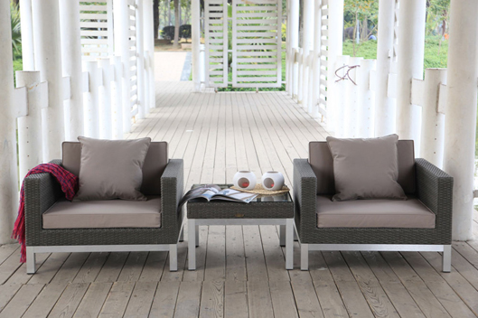 Rattan Lounge Grau - Rattanmöbel